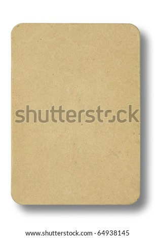 recycled paper pad on white background