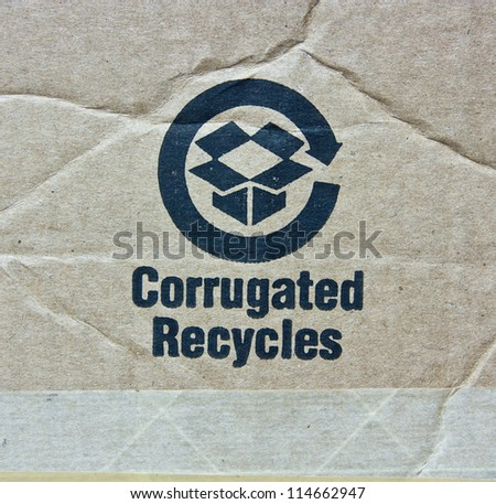 recycled paper with rich details.recycle symbol.