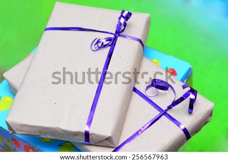 Recycled Paper Wrapped Presents