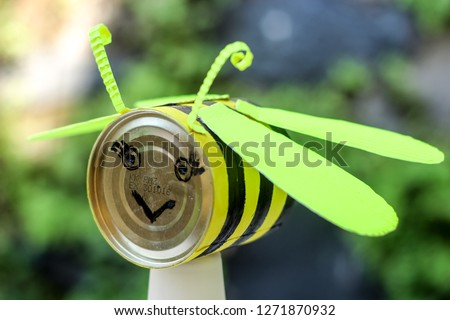 Recycling and Crafting Ideas Made of Milk Can and Kokoru Paper #1271870932