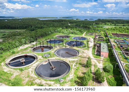 Recycling and disposal of solid waste from manufacturing on sewage treatment plant