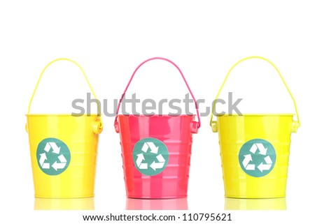Recycling bins isolated on white