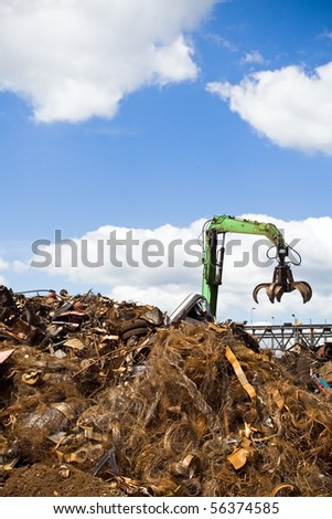 Recycling business over blue sky