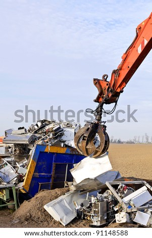 recycling  metal - stock photo