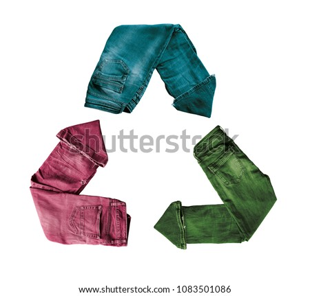 Recycling of clothes. Second-hand clothes. Ecological and sustainable fashion. Second hand fashion. Ecological clothes