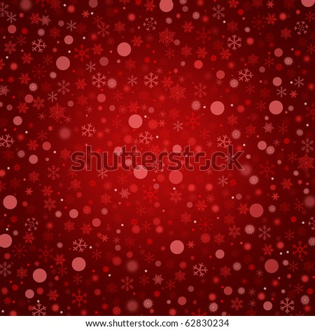 Red abstract christmas background with snowflakes
