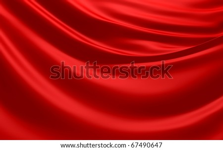 Red Abstract Cloth