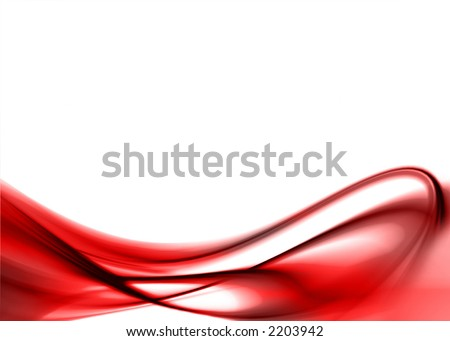 red abstract composition