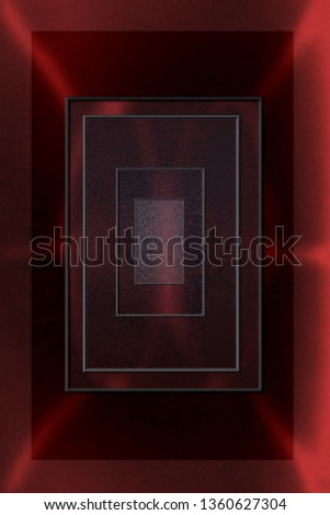 Red abstract of rectangles inside rectangles to produce magnifying effect. Good for science fiction project.