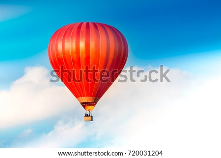 Red air balloon in the sky. #720031204
