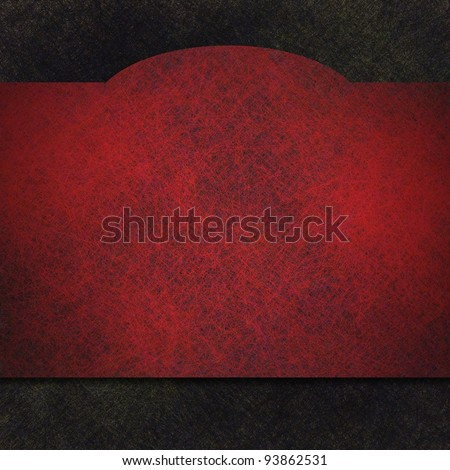 red and black background illustration with old  parchment vintage grunge texture and elegant curved ribbon banner design with copy space for announcements or invitations