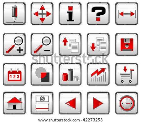 Red and black computer icons.