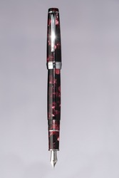 Red and black marble Fountain writing pen.
