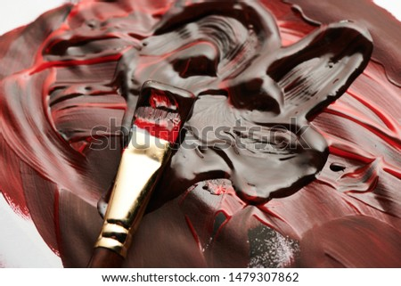 red and black oil paint abstract photos. Artistic flow #1479307862