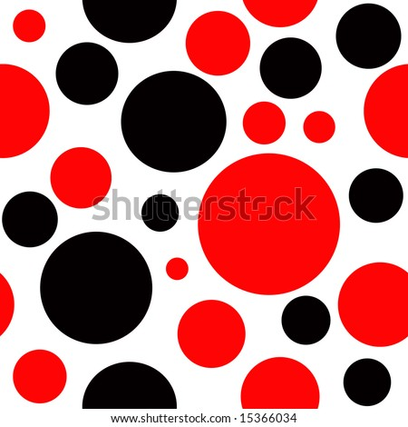 Red and Black Polka Dot Background which will tile seamlessly.