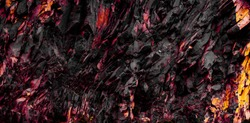 red and black rock texture  - abstract stone background  -