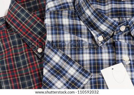 Red and Blue color shirt for men in checked pattern