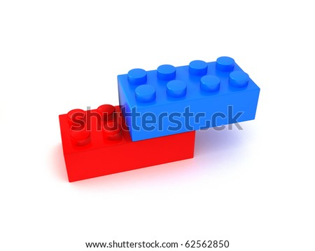 Red and blue cube