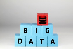 red and blue wooden blocks with the word big data