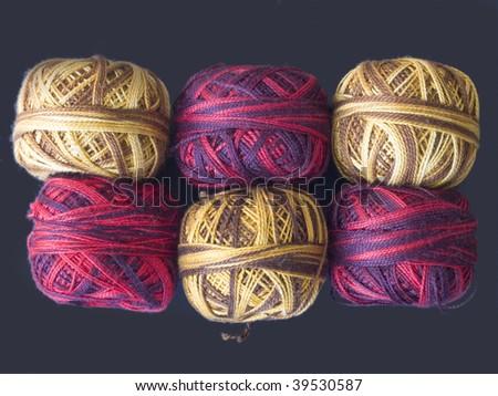 red and brawn yarns