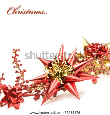 Red and gold christmas decoration - stock photo