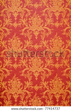 Red and golden seamless floral pattern photo shot