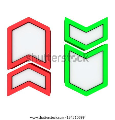 Red Point Red And Green Arrows Pointing