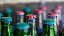 Red and Green Cap of a Carbonated Soft Drink