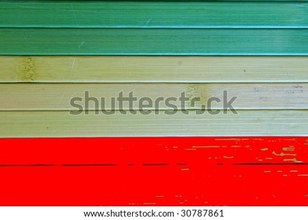 red and green carpet - stock photo