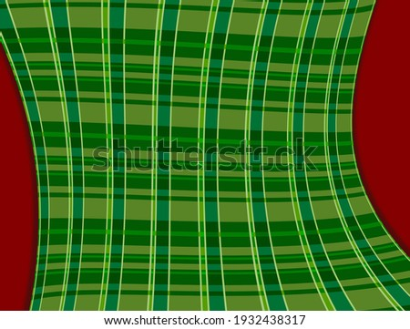 red and green 3d  st patricks day plaid pattern warped illustration graphic Foto stock ©