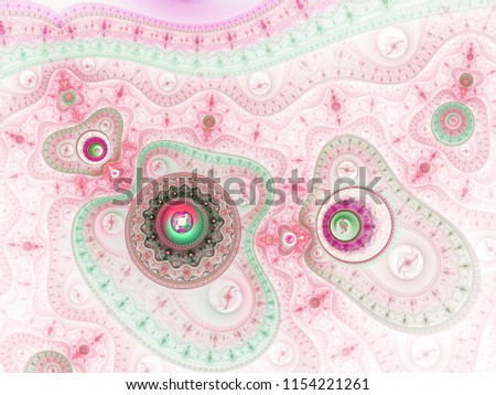 Stock Photo Red and green fractal steampunk texture, digital artwork for creative graphic design