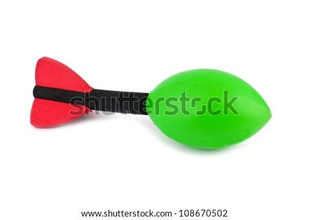 red and green soft toy rocket