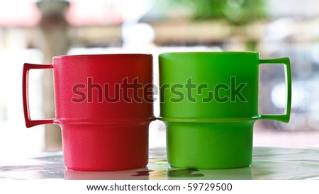 red and green toy cup