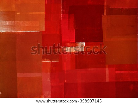 Red and Orange Abstract Art Painting