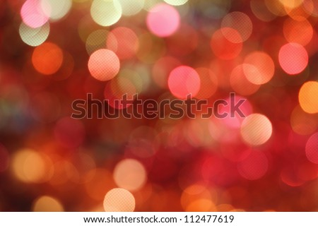 Red and orange holiday bokeh. Abstract Christmas background
