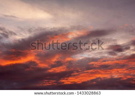 Red and orange sunset sunrise sky #1433028863
