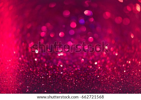 Red and Pink glitter abstract background with bokeh defocused lights. Winter Christmas and valentine background  wallpaper concept.