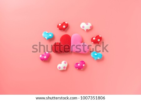 red and pink heart lover #1007351806
