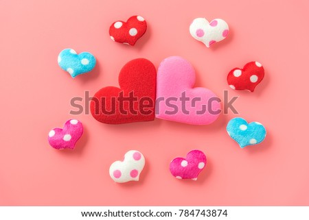 red and pink heart lover #784743874