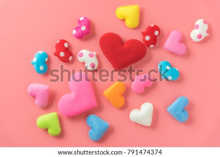 red and pink heart lover #791474374