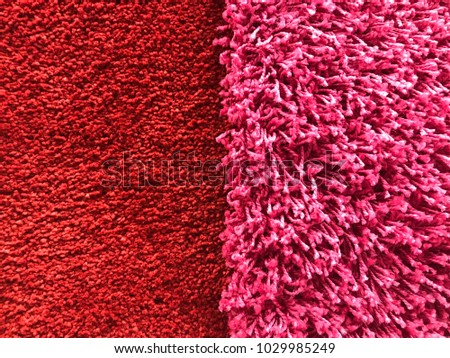 Red and pink mohair rug texture background