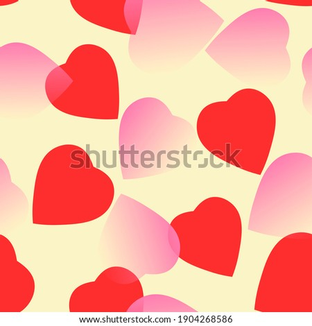 red and rose hearts at yellow background. hearts texture. hearts background Foto stock ©