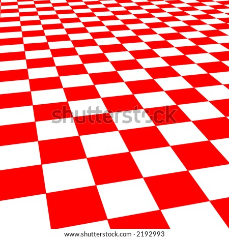Red And White Abstract Design That Looks Like A 1950s Floor. Stock