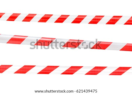 red and white barricade on white background #621439475