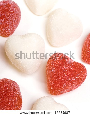 Red and White Candy Hearts