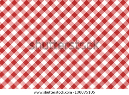 Red and white checkered tablecloth background, texture
