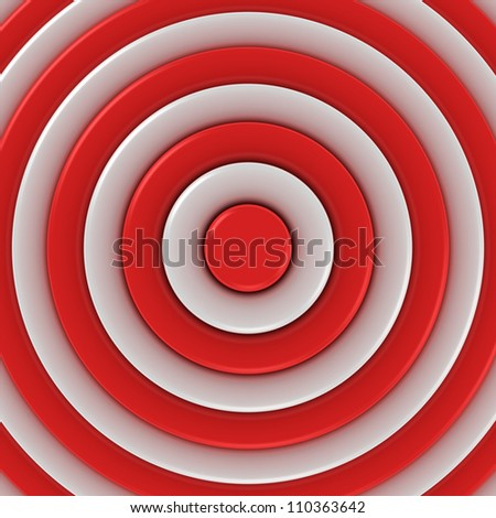 Red and white concentric abstraction