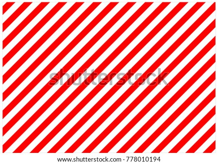 Red and white diagonal lines. Striped background.