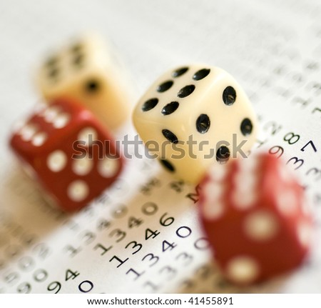 Red and white dice only with 6