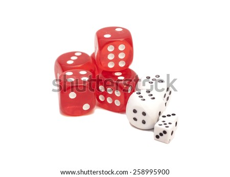 red and white dices #258995900